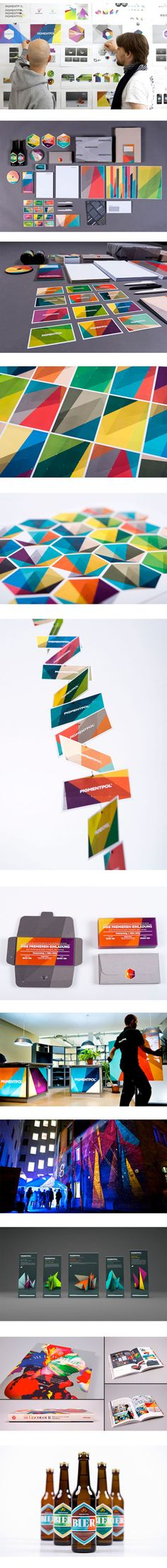 Work from FELD studio for digital crafts and German based studio ATMO for digital printing company PIGMENTPOL
