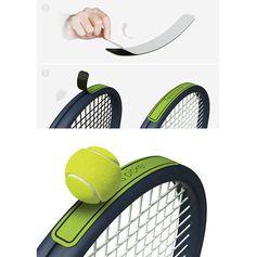 테니스용 찍찍이.테니스를 할때 어디 굴러가지않게 공을 챙기는 한 손을 자유롭게 해주는 아이템이다. 탈부착이 가능한점이 장점.