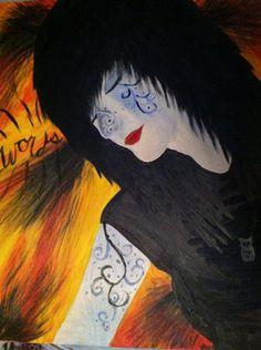 self portrait oil paint
