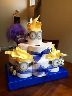 we made this toilet paper cake for my sister 39 s husband for. Black Bedroom Furniture Sets. Home Design Ideas