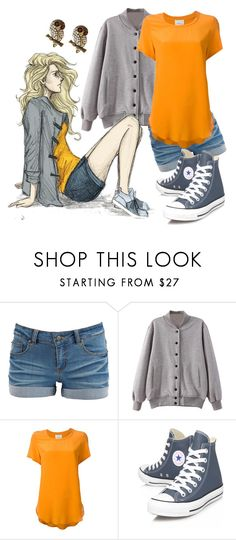 """Annabeth Chase- The Heroes of Olympus"" by nicolorido ❤ liked on Polyvore featuring Pieces, 3.1 Phillip Lim, Converse and Amrita Singh"