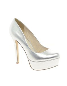 ASOS PIPPA Platform Court Shoes Silver $45.00