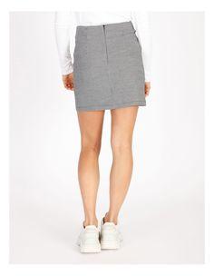 Miss Shop Black & White Houndstooth Mini Skirt | MYER Plaid Skirts, Mini Skirts, Tartan Plaid, Houndstooth, Black And White, Shopping, Fashion, Moda, Kilts