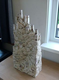 Bergdorp by Jacqueline Tijssen (****Duplicate Pin) Clay Houses, Ceramic Houses, Ceramic Clay, Ceramic Pottery, Pottery Art, Art Houses, Sculptures Céramiques, Sculpture Clay, Ceramics Projects