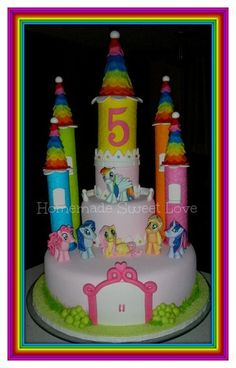 My Little Pony's Castle Cake