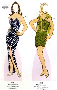 Welcome to Dover Publications Fashion Parade Paper Dolls: 4 Decades of Great Designs, from 1960 to 2000