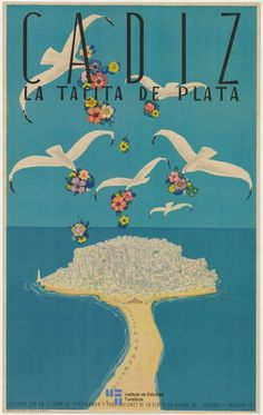 Cartel de #turismo de Cadiz del año 1941. Spain - via #Viajology: