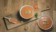 Carrot & Ginger Wellness Soup – with coconut & lentils | Trinity's Conscious Kitchen
