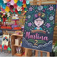 Festa Frida Kahlo. Por @komemore @conkaloja @xi_risquei #encontrandoideias #blogencontrandoideias #festafridakahlo