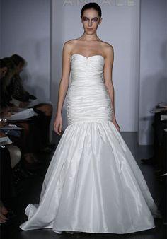 Court Train Sweetheart Neckline Taffeta Mermaid Bridal Gowns