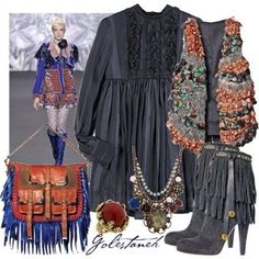 Bohemian style clothing.