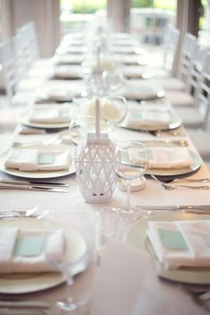 Hint of Mint table decor