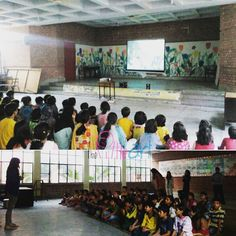 The Little Art organized free film screening show of Lahore Int'l. Children's Film Festival for the SOS Children's Village in Lahore  #TLAORG #Lahore #SOSVillage #CHILDREN #enjoying #filmFestivalFilms #LICFF #ArtEd #socEnt #visualCulture #medialiteracy