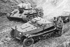 Gross-Deutschland SdKfz. 252 with captured T-34