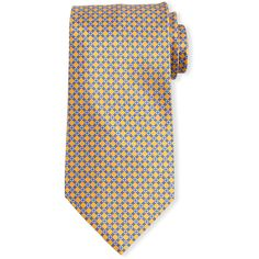Stefano Ricci Neat Square-Print Silk Tie (€245) ❤ liked on Polyvore featuring men's fashion, men's accessories, men's neckwear, ties and purple
