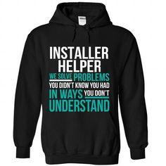 Installer Helper - #custom sweatshirts #black hoodie mens. WANT => https://www.sunfrog.com/Funny/Installer-Helper-9192-Black-Hoodie.html?id=60505