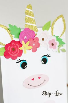 Magical Unicorn Valentine Box with FREE printables...