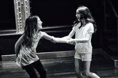 Sophia Gennusa and Ava Ulloa at a meet up for Matilda the Musical Broadway