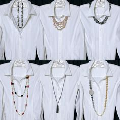 Do you ever look at your closet and think It's a White Shirt Kinda Day, but I need some new STYLE ideas! is part of Boho fashion Posts - Ways to Wear Freshwater PEARL Necklaces with a Classic White Shirt Fashion Mode, Look Fashion, Fashion Outfits, Over 50 Womens Fashion, Fashion Over 50, White Shirt Outfits, Casual Outfits, Classic White Shirt, White Shirts Women