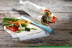 Τορτίγια με λαχανικά και τυρί κρέμα