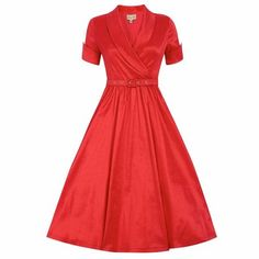 LINDY BOP 'Vanda' Vintage Style Red Party Dress