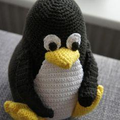 Opskrift på hæklet Linux pingvin – Tux – kvalitid