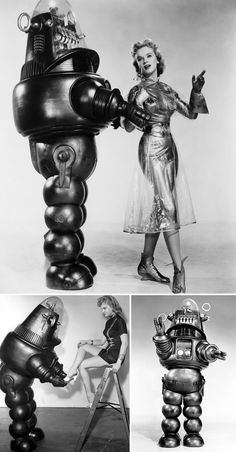 Altaira (Anne Francis) & Robbie from Forbidden Planet (1956)