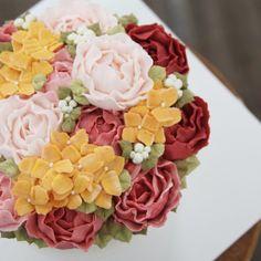 buttercream flower cake  www.merci_cake.co.kr