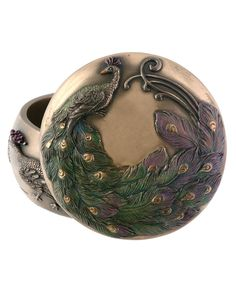 Arts and Crafts Peacock Trinket Box