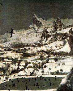 BRUEGEL, Pieter the Elder (b. Breughel, d. Bruxelles) The Hunters in the Snow (detail) 1565 Oil on panel Kunsthistorisches Museum, Vienna Hunters In The Snow, Pieter Bruegel The Elder, Baroque Art, Colorful Paintings, Art And Architecture, Painting Techniques, Impressionism, Painting & Drawing, Paris Skyline