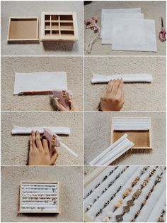 collegeappsarescary: DIY Stud Earring Holder/Organizer