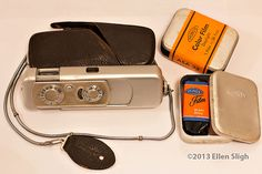My dad's old Minox Wetzlar with unopened color Minox fill ASA 32. He called it a spy camera