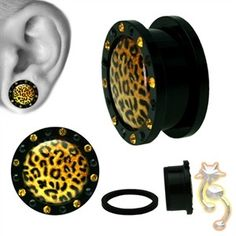 Wholesale Body Jewelry Orange Cheeta Sign Screw On Uv Multi Cz Body Jewelry Product Code: Leopard Tattoos, Animal Tattoos, Piercing Tattoo, Body Piercing, Gages For Ears, Cheetah Skin, Wrist Flowers, Wholesale Body Jewelry, Tunnels And Plugs