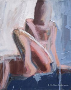 "abstract figurative painting, original acrylic 11"" x 14"" - POISED. $45.00, via Etsy."