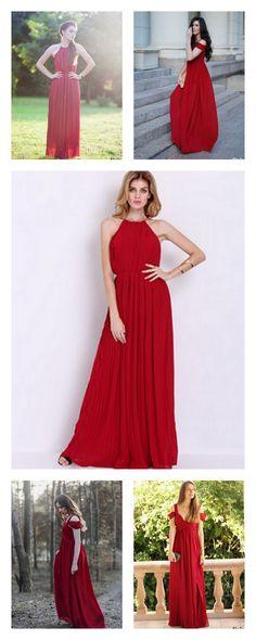 Modest prom dresses long, red junior prom dress, 2016 handmade a-line evening dress for teens at m.shein.com