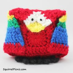 Make It! Challenge #12: Unlikely Friends Crochet Parrot and Penguin Patterns | Squirrel Picnic