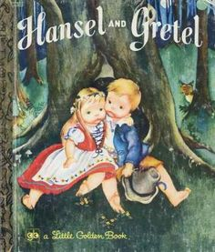 """""""Hansel and Gretel"""" Little Golden Book. Recycled Book Journal. Just $14. All Golden Books include the entire text included with the finished journal. Also? Bonus!!! I will, upon request, make a video of me reading ANY golden book to you and post said video to YouTube. Just make a note in checkout page. Here's a link to the Golden Book section of our website: http://bookjournals.com/journals/little-golden-books Or, you know, just click on this image. Love, Jacob"""