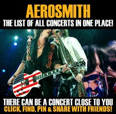 Aerosmith in your city! Concerts dates & tickets. #music, #show, #concerts, #events, #tickets, #Aerosmith, #rock, #tix, #songs, #festival, #artists, #musicians, #popular,  Aerosmith