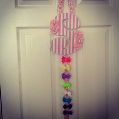 Baby hair bow holder DIY