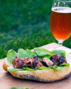 Grilled Smoky Pork Subs - marinated in beer and paprika, grilled over an open fire - http://bbqlikeitshot.com