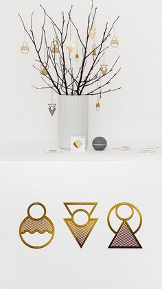 Go less traditional with a deco inspired decoration #Christmas