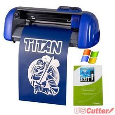 USCutter Table Titan Vinyl Cutter with VinylMaster Cut Software * Visit the image link more details. Organize Fabric, Vinyl Cutter, Vinyl Crafts, Cricut Vinyl, Adhesive Vinyl, Decal, Dream Library, Discount Websites, Coupon Organization
