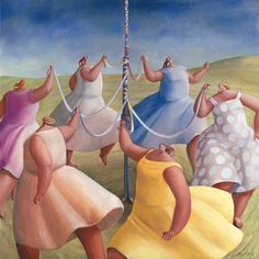 'Mayday Mayday' by Sarah-Jane Szikora, Oil on Canvas, x Beautiful Words, Big And Beautiful, Fat Art, Quirky Art, Pastel Palette, Fat Women, Fine Art Gallery, Love Art, Les Oeuvres