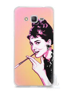 Capa Samsung Gran Prime Audrey Hepburn #2 - SmartCases - Acessórios para celulares e tablets :)
