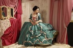 For your next soiree....lovely and perfect Madame d'Pompadour dress interpreted from the painting.