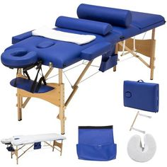 New SUNCOO Portable Massage Table Folding Facial Bed Lightweight Wood Frame Carrying Case, 3 Fold Design, Including Bolsters&Cradle&Hanger online shopping -