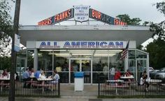 All American Hamburger Drive-in, Massapequa, Long Island, New York