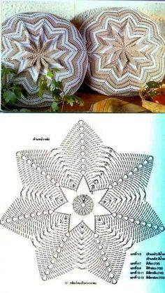 Crochet pillow or floor poof