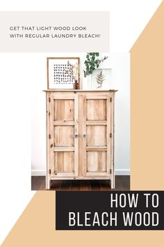 Get the light, beachy wood tones that are so popular in home decor right now with regular laundry bleach! Such an easy DIY with big results!