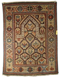Caucasian prayer rug, dated 1289 = 1872